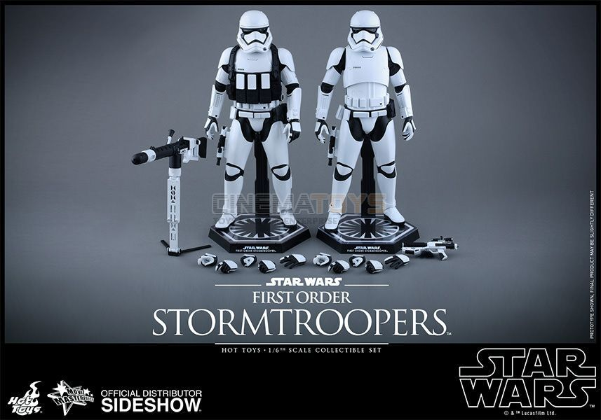 STAR WARS EP. VII First Order Stormtroopers Sixth Scale Figure Set By Hot Toys