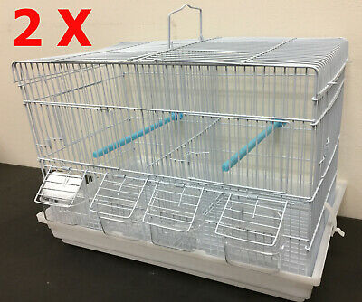 Mcage Lot of 2 Replacement Seed Plastic Trays for 30x18x18 Bird Cage White
