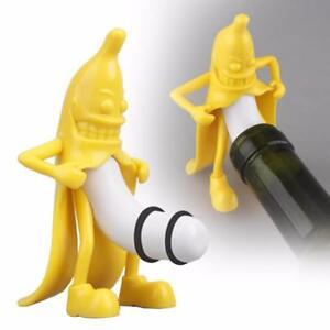 Wine-Stopper-Bottle-Protect-Kitchen-Bar-Creative-Evil-Banana-Eco-Friendly-Bottle