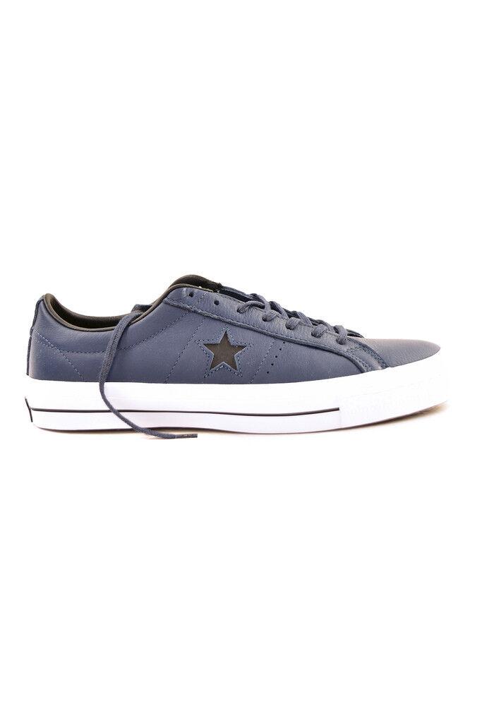 Converse One Star unisex in pelle 153716C 153716C 153716C Blu Scuro Blck Bianco RRP  BCF86 c5c969