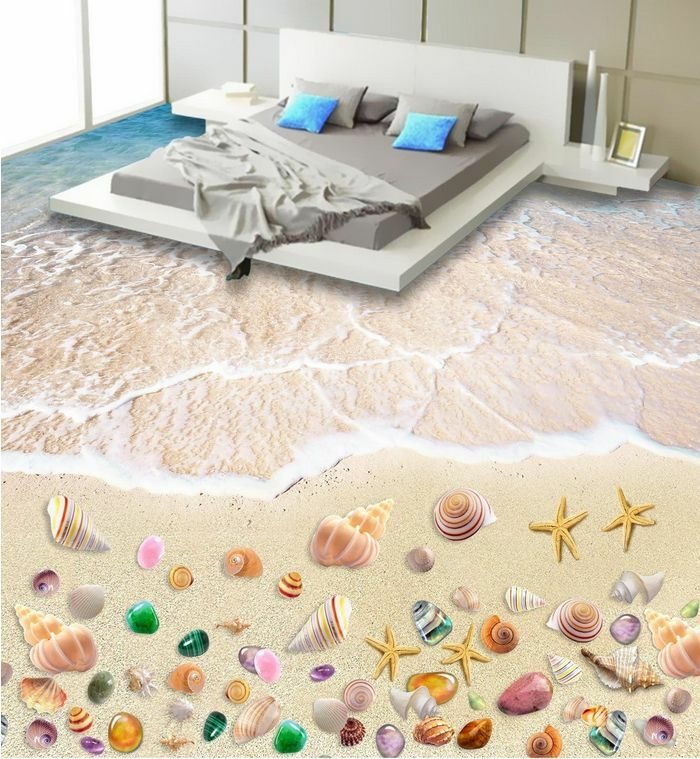 3D beach shell water 97 Floor WallPaper Murals Wall Print Decal 5D AJ WALLPAPER