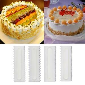 Cake-Decorating-Comb-Icing-Smoother-Cake-Scraper-Pastry-4-Designs-Baking-Tool