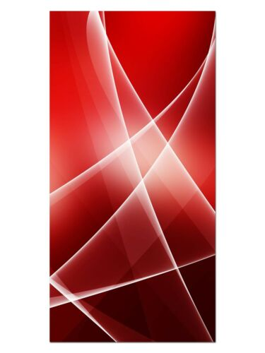 Wandbilder XL 50 x 100 cm HD GlasBild EG4100502099 ABSTRAKT DESIGN ROT ABSTRAK