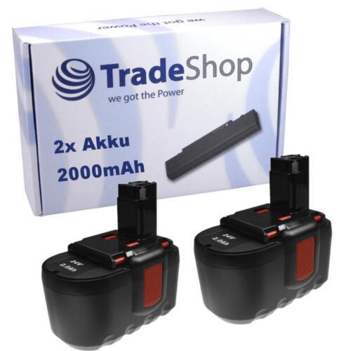 2x Batterie 2000mah pour Bosch GSR 24 ve2 psb 24 ve2 guitariste 24v bat0299