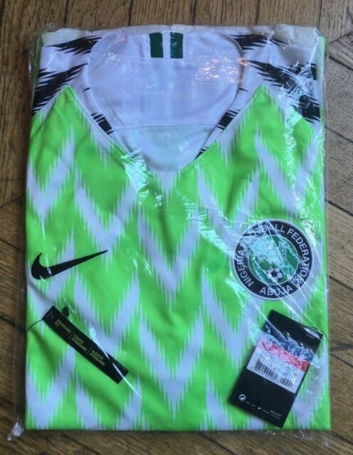 Nike Nigeria 2018 World Cup Stadium Home Football Shirt Green Size S ... dc234ae34
