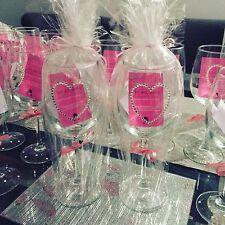 Personalised Heart Diamante Swarovski Crystal Wine Glass