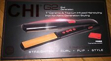 "CHI FLAT IRON 2G Ceremic & Titanium Infused brand new 1"""
