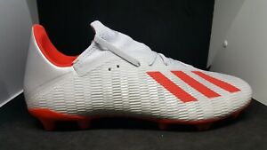 Adidas-Mens-Football-boots-X-19-3-Fg-M-F35382-Gray-Red-size-10-5
