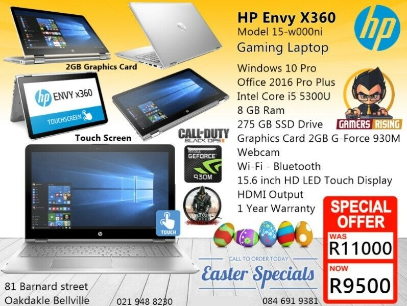 Demo Gaming HP - ENVY x360 Laptop, 275GB SSD, 2GB Graphics Card, Core i5,  12GB ram  | Bellville | Gumtree Classifieds South Africa | 227143908