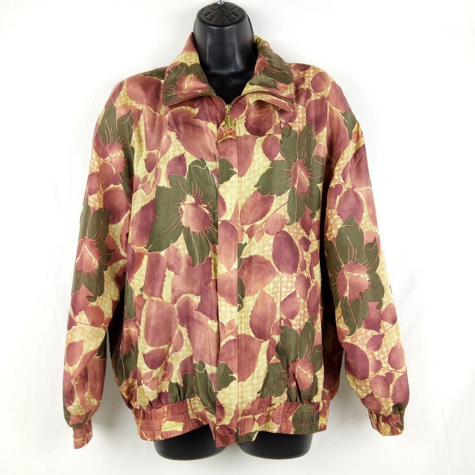 Fuda International Bomber Jacket Women Size M Pin… - image 1