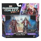 """MARVEL LEGENDS GUARDIANS OF THE GALAXY 3.75"""" STAR LORD & YONDU 2 PACK FIGURE"""