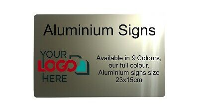 Custom Personalised Address Ornament Metal Aluminium Plaque Sign House Office