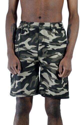 Men/'s Camouflage Pantaloni Corti con Tasconi Lavoro Cargo Combat Pantaloncini Casual Cotone Chino Corto