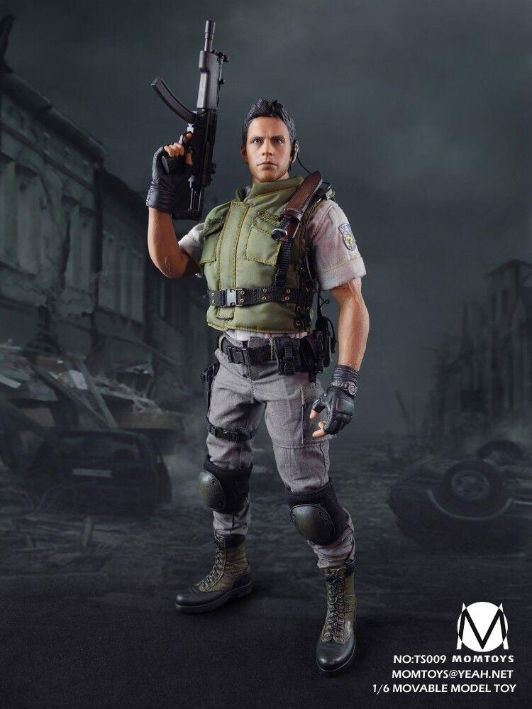 MOMTOYS TS009 Resident Evil Chris 1 6 Figure