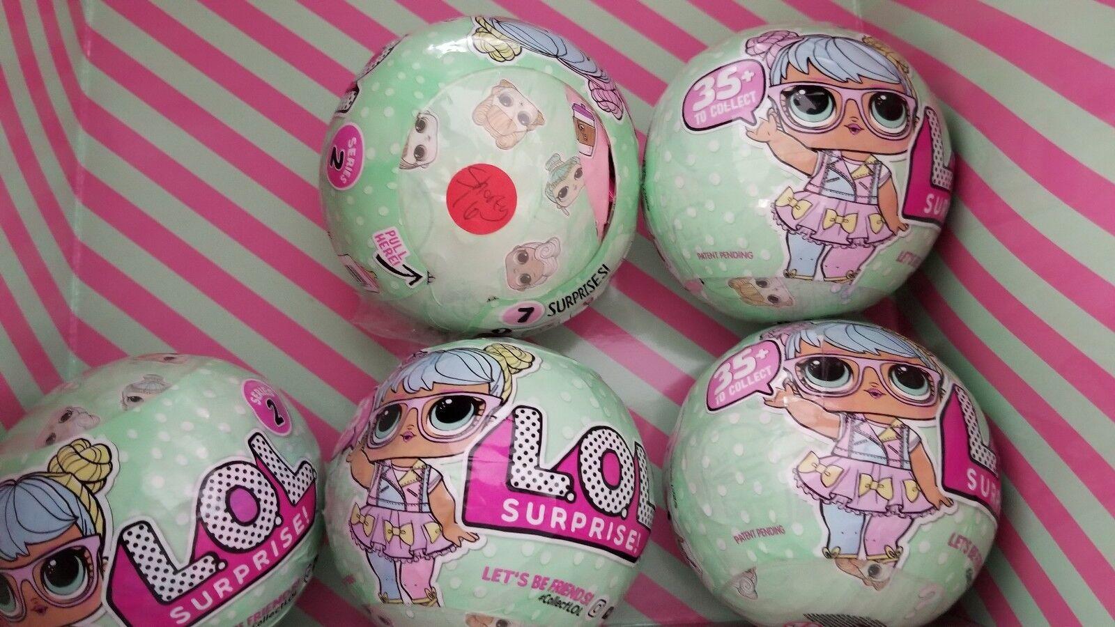 Lot of 5 LOL Surprise  S2 W1  Bon Bon ball Dolls  New sealed  Read description
