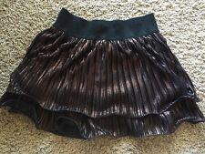 NWT TAKARA  GLITTER GIRL Copper TIERED    full short skirt SZ M