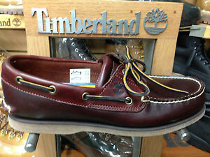 Details about Men's Timberland Classic Leather Boat Shoes Root Beer Brown 25077 Medium
