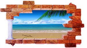 Wall-stickers-trompe-l-039-oeil-arredo-locali-adesivo-per-muro-moderno-maldive