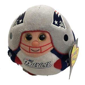 84dbe44879f TY Beanie Ballz New England Patriots Plush Football Figure Ball 5 ...