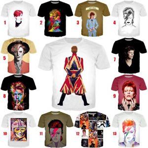 Fashion-Bowie-David-Rock-Women-Men-Casual-3D-Print-T-Shirt-Short-Sleeve-Tee-Tops