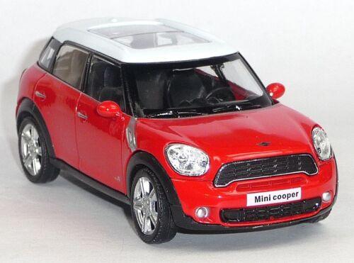 1:43 9cm Neuware RMZ City Mini Cooper S Countryman rot Sammlermodell ca NEU