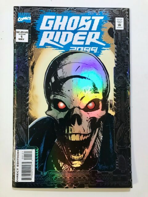GHOST RIDER 2099 #1 - 1st appearance High Grade Prismatic Foil Cover Cyberpunk