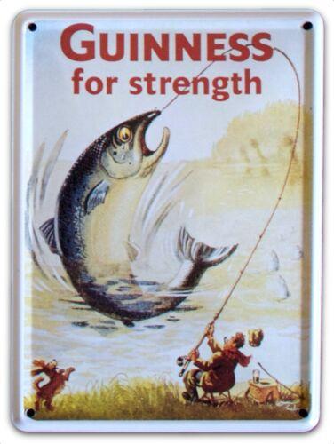 GUINNESS BIG FISH Small Vintage Metal Tin Pub Sign