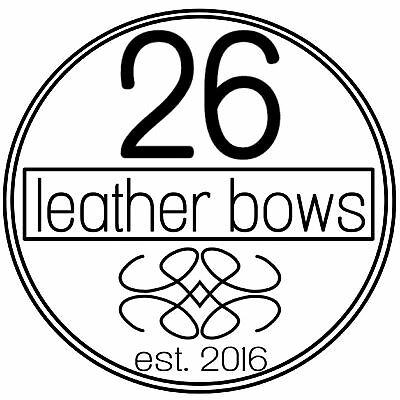 26 Leather Bows