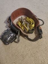 Buckingham Linemans Climbers Safety Belt 474s Size 22 Guardian Strap Pouch
