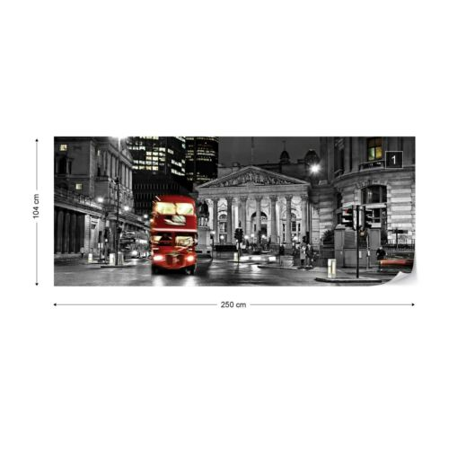 London At Night Photo Wallpaper Wall Mural Fleece Easy-Install Paper