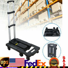 400lbs Folding Dolly Cart Delivery Hand Truck Cart Moving Aluminum 7 Wheels Usa