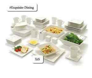 Image Is Loading Elegant Dinner Ware Set Plates Bowls Casual