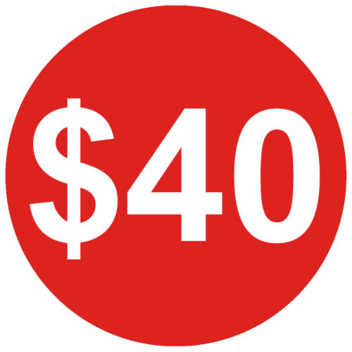 1 1//4 Inch 30mm Bright Red $ Dollar Price Point Stickers Sticky Labels $10 $15