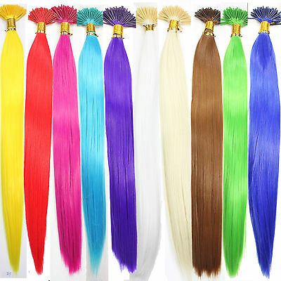 "10 Single Color Solid Synthetic Feather Hair Extensions 16"" Long Choose"