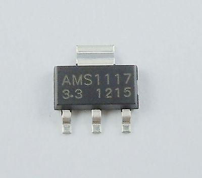 100Pcs New AMS1117 3.3V 1A Voltage Regulator SOT-223