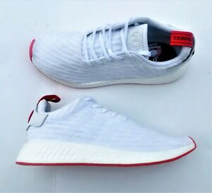 1e169fb18 Adidas NMD R2 Primeknit PK Two Toned Shoes BA7253 White Core Red ...