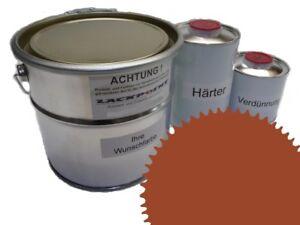 1-75-Litre-Set-2K-Vernis-Voiture-Ral-de-8023-Orange-Brun-Mat-Aucun-Tuning-Braun