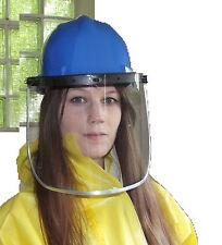 Arbeits-Schutzhelm nach EN 397 mit großem Klappvisier als Gesichtsschutz