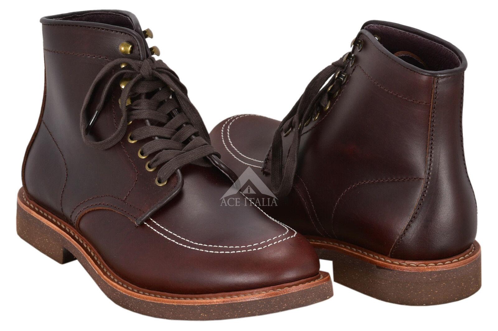 Indy Stiefel Indiana Jones Movie Inspirot Real Leather Dark braun High Ankle Stiefel
