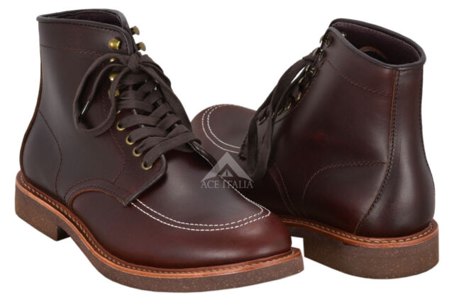 new arrival 6c241 3910a Indy Boots Indiana Jones Movie Inspired Real Leather Dark Brown High Ankle  Boots