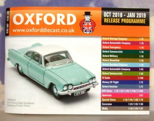 OXFORD DIECAST 48 PAGE POCKET CATALOGUE OCTOBER 2018 TO JANUARY 2019 RELEASES