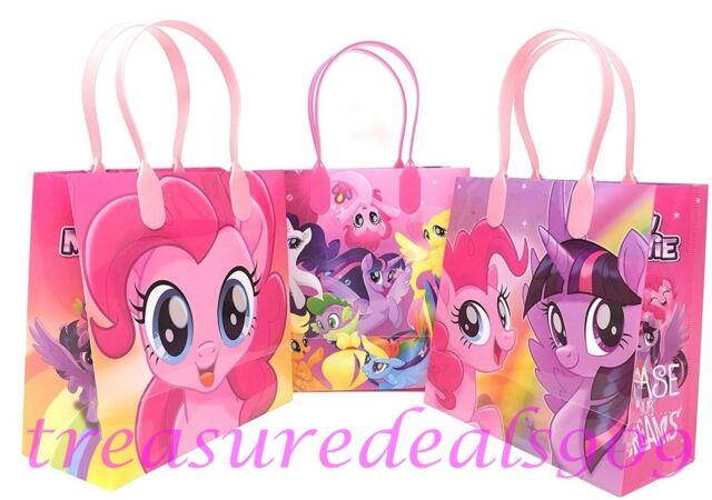 Hasbro My Little Pony 6 Pcs Goo Gift Bags Party Favor Treat Birthday Bag New