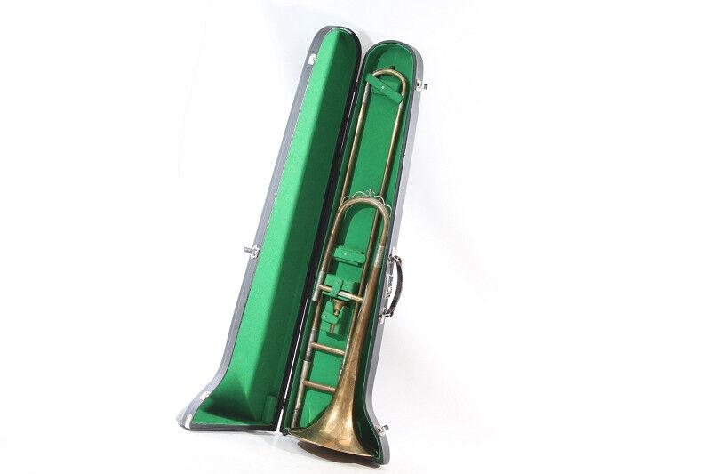 Alte Posaune mit Koffer Musikinstrument old vintage Instrument