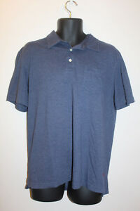 IZOD-Men-039-s-Polo-Shirt-with-Pocket-Blue-Short-Sleeve-Size-L-Large