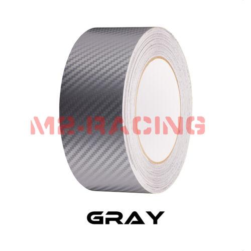3D Matte Carbon Fiber Racing Stripes Vinyl Wrap Rally Sticker 10FT//20FT Long
