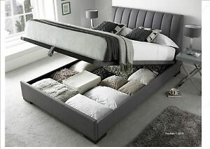 Amazing Details About Kaydian Lanchester 5Ft Grey Fabric Ottoman Storage Bed Next Day Delivery Gmtry Best Dining Table And Chair Ideas Images Gmtryco