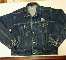 """Warner Bros Harley Davidson Taz  Denim Motorcycle Jacket~ Sz M """"Rough Riders USA"""