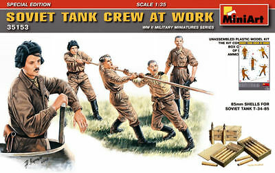 Soviet Tank Crew At Work Figure Plastic Kit 1:35 Model Miniart Per Prevenire E Curare Le Malattie