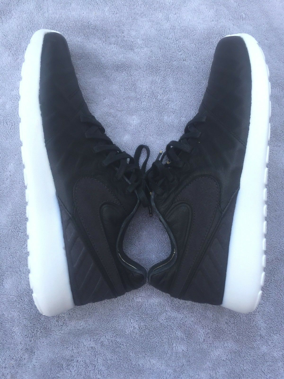 Nike Roshe Tiempo VI QS 853535-002 Black Leather Futbol Soccer shoes Men's Sz 10