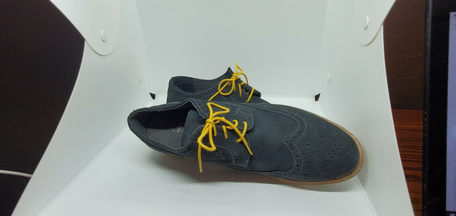 JUMP~J75~GREY SUEDE~MEN'S DRESS SHOES~SIZE 10.5~FARLEY~WORN ONCE